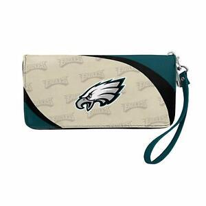 Philadelphia Eagles NFL Curve Zip Organizer Ladies Wallet