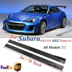 78.7'' Glossy Black Side Skirt Extension Lip Rocker For Subaru Impreza WRX STI