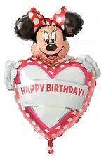 """Personalize your own name Happy Birthday Minnie Mouse foil balloon 39cm or 15"""""""