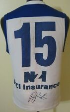 AFL Signed 1995 Nth Melbourne Player Issue Football Training Guernsey Jumper #15