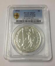 Britannia Rare Mule Error w/ Lunar Obverse 2014 1 oz 999 Silver Coin - PCGS MS67