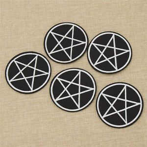 Pentagram Gothic Patch Clothing T-shirt Decor DIY Girls Clothes Accessories