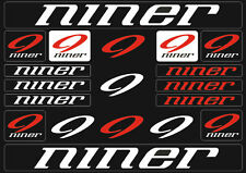 Niner Mountain  Bicycle Frame Decals Stickers Graphic Adhesive Set Vinyl White