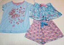 ❤ 3-piece Girls pajamas tops shorts Steve sleepwear butterfly bow 7 8 FREESHIP