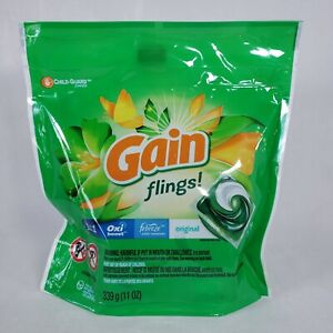 Gain Flings Laundry Pods Original Oxi Boost w/ Febreze Odor Remover 16 Ct 11 oz