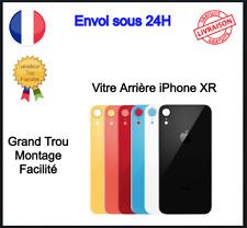 Vitre Arrière Verre Iphone XR Cache Batterie Grand Trou Logo Adhésif CE Qualité