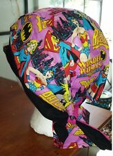 WONDER WOMAN SUPER GIRL BAT GIRL DU RAG DO RAG SKULL CAP BANDANA BIKER CAP