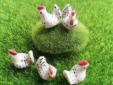 5 pcs. Dollhouse Miniature Animals Tiny Rooster Ceramic Decorative Figurine #1