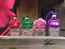 4 X Mini Hanging Empty Car Perfume Bottle Fragrance Diffuser Air Freshner Decor