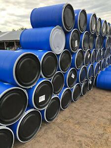 55 gallon plastic removable open lid top barrel barrels drum drums Food Grade