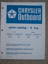 1972 Chrysler Outboard Parts Manual 5 HP Model 54HC 55HC 54BC 55BC  Owner Info H
