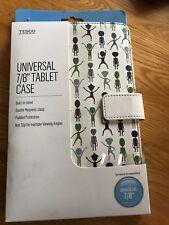 Tesco Universal Tablet Case Alien Print New UK 7/8inch
