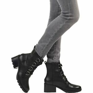 WOMENS SOREL 8, 9, CATE LACE BOOTS BOOTIES BLACK WATERPROOF NEW IN BOX