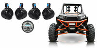 "(4) Rockville 8"" 600w Tower Speakers+Bluetooth Receiver For Polaris RZR/ATV/UTV"