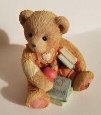 "Teddy Bear Figurine - Seth September P. Hillman appx. 2""T x 2""W x 2""L #914835 Vg"