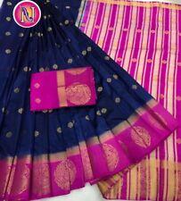 Indian Kanchipuram Bollywood Design Silk Saree –Festival Party Wedding Wear