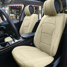 Car SUV Truck Leatherette Seat Cushion Covers Front Bucket Seats Beige For SUV