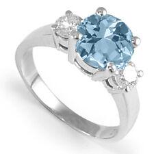 1.90 ct Aquamarine and .50ct Diamond Engagement Ring in Platinum 950 #R1348.