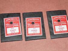 3 Packs (qty 60) 1940s Vintage Sewing Needles Sharps John English & Co Size 3-9