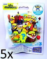 5 PCS Mega Bloks ® Minions Sammelfigur Serie 3 Figure Despicable Me Collectors
