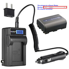 Kastar Battery LCD AC Charger for Sony NP-FM50 BCVM50 Cyber-shot DSC-F828 DSC-R1