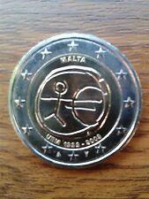 "pièce neuve 2 euros 2009 ""emu"" malte"