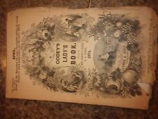 RARE Godey's Lady's Book April 1874 PB Color fashion plate foldouts - LOTL