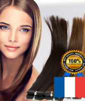 7A EXTENSIONS DE CHEVEUX TAPE IN BANDE ADHESIVE NATURELS REMY 53-60CM