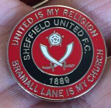 Sheffield United est ma religion-BRAMALL LANE est mon église Enamel Pin Badge