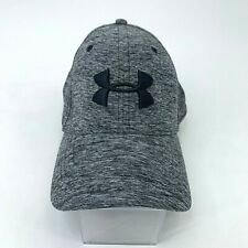 Under Armour Hat Men's Size M/L Fitted Gray Athletic Elastic Head Band Stretch