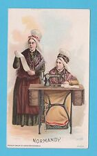 NATIONS - SINGER SEWING - RARE NATIONS / ADVERTISING CARD -  NORMANDY  - 1894