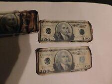 1-Dark knight burnt money screen used w COA Batman movie prop bill Joker Ledger