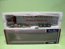 CORGI TOYS MAN CURTAINSIDE - JOHN MITCHELL TRANSPORT - 1:50 - EXCELLENT  IN BOX