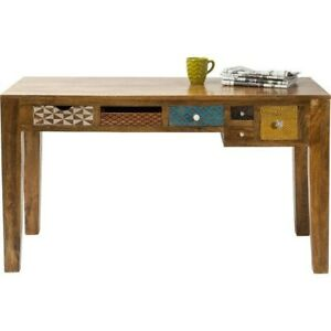 Made to Order Vivid Screen Contemporary Mango Wood Console Hall Table Study Desk
