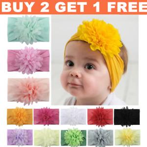 Newborn Baby Girl Floral Headband Headbands Infant Girls Elastic Knot Hair Band