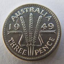 1949 AUSTRALIAN THREEPENCE. PRE DECIMAL COIN.