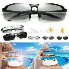 Photochromic Polarised Sunglasses UV400 Polarized Fishing Driving Eyewear Retro
