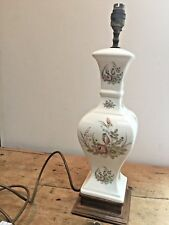 """PRELOVED LARGE CERAMIC FLORAL TRANSFER PRINT TABLE LAMP 19 1/2"""" TALL x  5 1/4"""" W"""