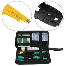 RJ45 Ethernet Network Cable Tester Crimping Crimper Stripper Cutter Tool Kit UK