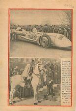 Voiture Balle d'Argent Car Silver Bullet Louis Kostalen  1930 ILLUSTRATION
