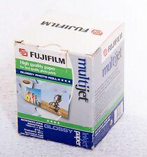 Fujifilm di Alta Qualità Lucido Foto rotolo di carta stampante a getto d'inchiostro 100 mm x 8 M NUOVO