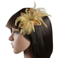 FASCINATOR HEAD PIECE WEDDING HAIR CORSAGE HAIR CLIP WEDDING FASCINATOR FEATHER