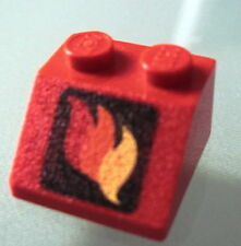 LEGO 3039pb004 @@ Slope 45 2 x 2 with Classic Fire Logo Pattern @@ 6611