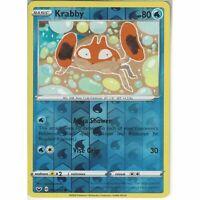042/202 Krabby | Common Reverse Holo Card Pokemon TCG Sword & Shield (Base Set)