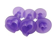Wilton Mini Cut Outs Hearts Shape Fondant Cupcake Decoration Ejector Cutters Set