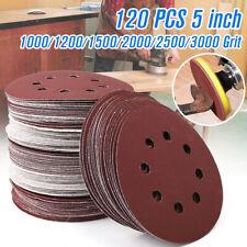 120 Pcs 5'' Sanding Discs 1000 1200 1500 2000 2500 3000 Assorted Grit Sandpaper