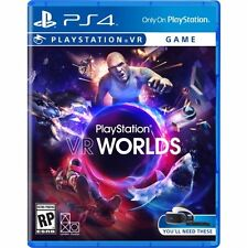 PS4 VR Worlds Virtual Reality NEW Sealed Region Free USA Game