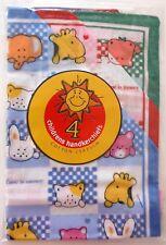 4 X Kids Children 25 X 25cm Cotton Hankies Hanky Handkerchiefs - Nautical Bears