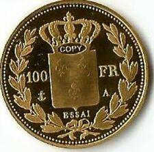 Pièces de monnaie françaises de 100 francs or plaqué 100 Francs