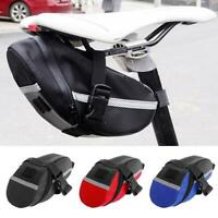 Cycling MTB Mountain Bike Bag Seat Tail Rear Pouch Nylon Bag Saddle Road R4K4
